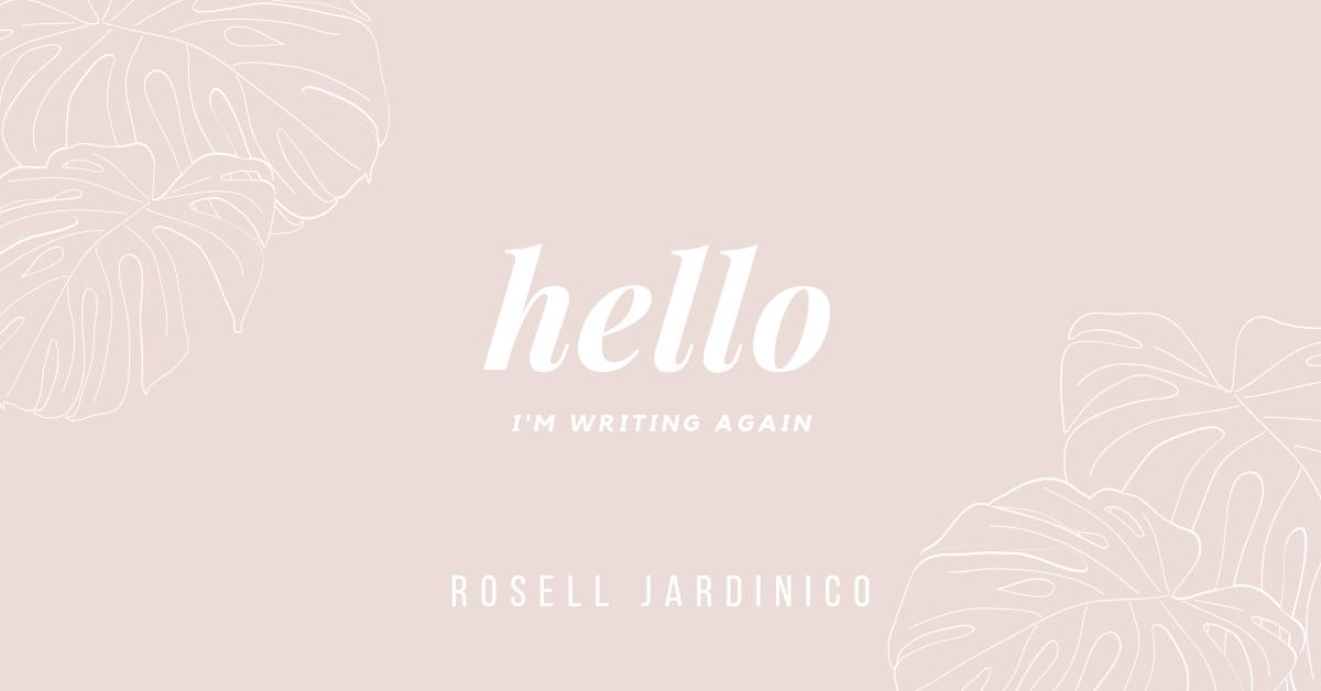 Hello, I'm writingagain