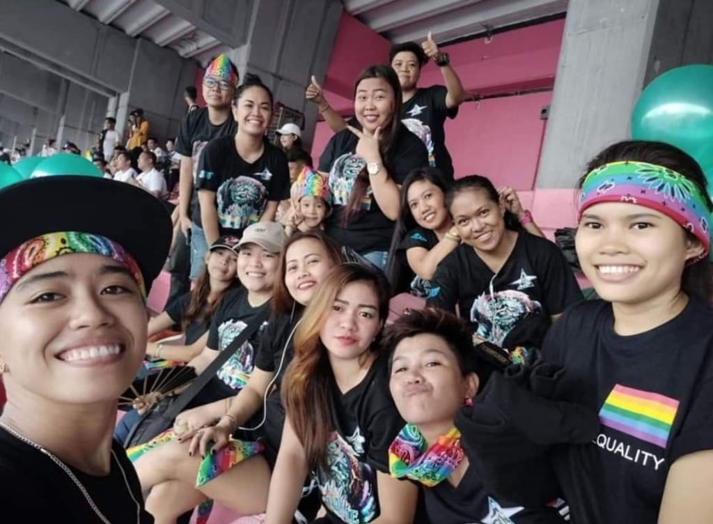 """Friends from our Facebook Group """"I AM ME"""" March to raise their voices as a member of the LGBTQIA+ community."""